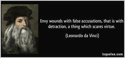 Envy wounds with false accusations, that is with 