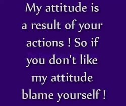 My attitude is 