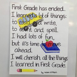 Firsv Grade has ended. 