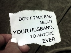 DON'T TALK BAD 