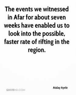 The events we witnessed 