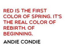 RED IS THE FIRST 