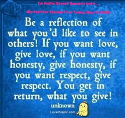 Be a reflection of 