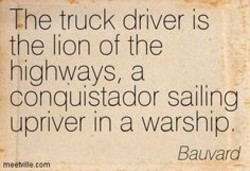 The truck driver is 