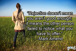 'Rejection doesn't mean 