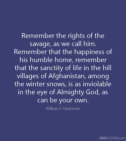 Remember the rights of the 