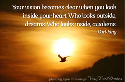 Your vision becomes clear when you look 