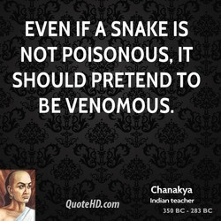 EVEN IF A SNAKE IS 