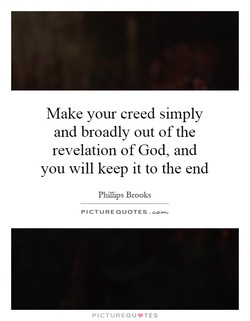 Make your creed simply 