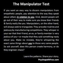 The Manipulator Test 