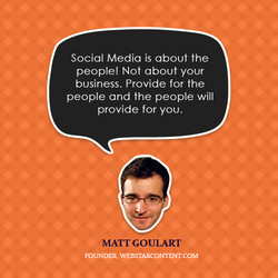 Social Media is about the 