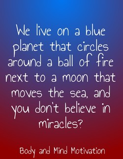 We live on a blue 