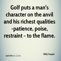 Golf puts a man's 