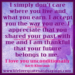 I simply don't care 