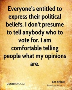 Everyone's entitled to 
