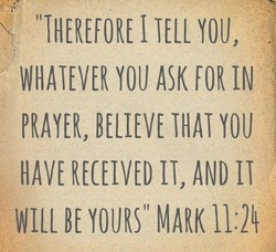 'THEREFORE I TELL YOU, 