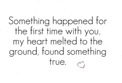 Something happened for 
