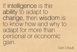 If intelligence is the 