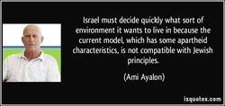Israel must decide quickly what sort of 