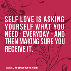 SELF LOVE IS ASKING 