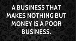 A BUSINESS THAT 