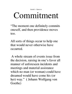 Goethe's Quote on 