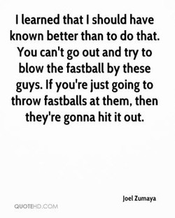 I learned that I should have 