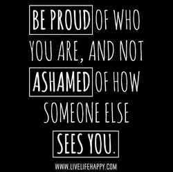 BE PROUD WHO 
