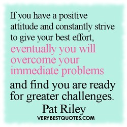 If you have a positive 