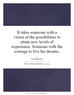 It takes someone with a 
