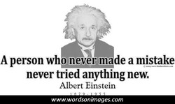 A person who never made a mistake 