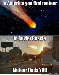In America you find meteor 