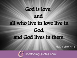 God is love, 