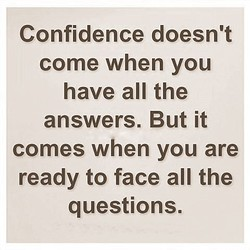 Confidence doesn't 