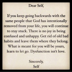 Dear Self, 