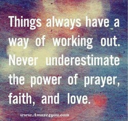 Things always have a 