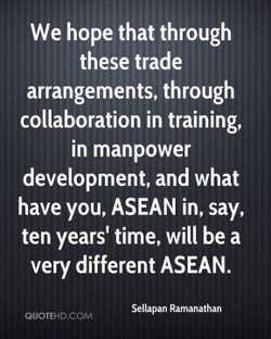 We hope that through 