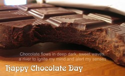 Chocolate flows in deep dark, sweet waves, 