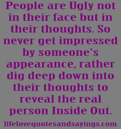 People are Ugly not 