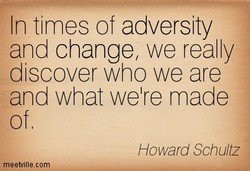 In times of adversity 