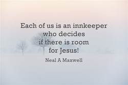 Each of us is an innkeeper 