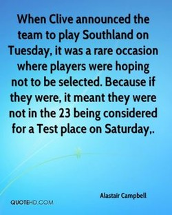 When Clive announced the 