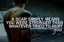 A SCAR SIMPLY MEANS 