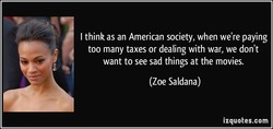 I think as an American society, when we're paying 