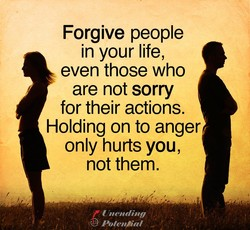 Forgive people 