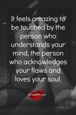 It feels mazing to 