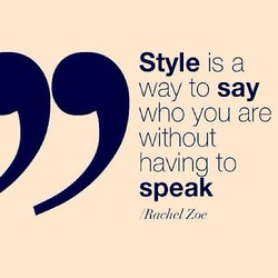 Style is a 