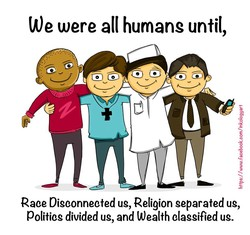 We were humans until, 