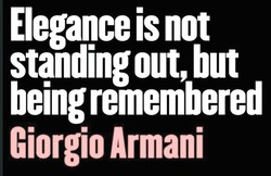 Elegance is not 