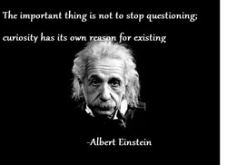 The important thing is not to stop questioning; curiosity has its own for existing -Albert Einstein